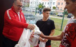 Tomasz Rybicki - skaut PZPN oraz Bayeru 04 Leverkusen na treningu juniorów MKS-u
