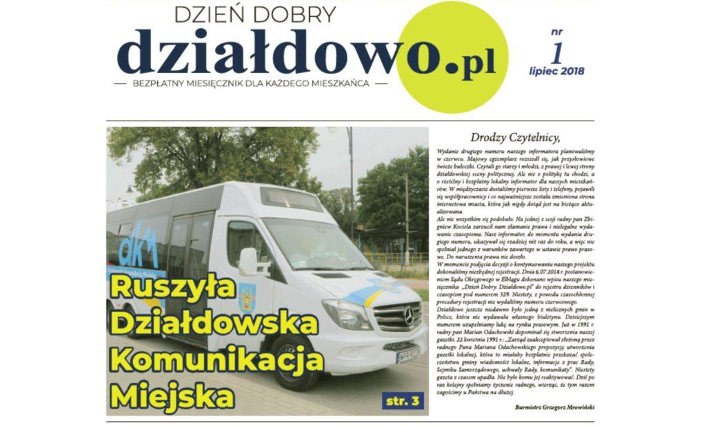 Zapraszamy do lektury naszego informatora Dzień Dobry. Działdowo.pl