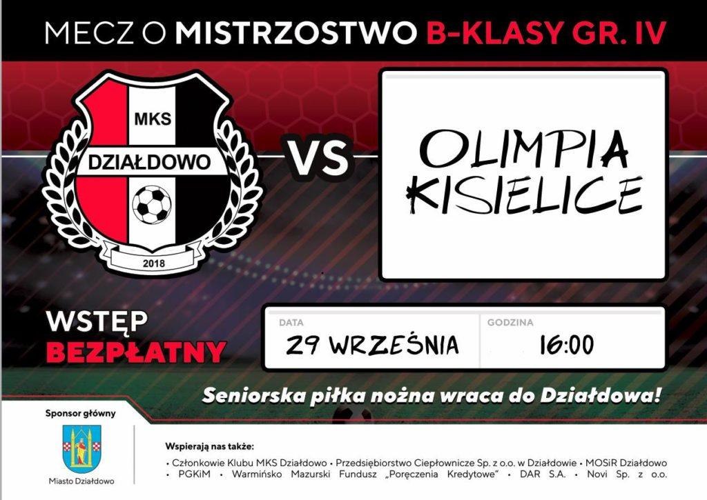 W sobotę MKS Działdowo zagra z Olimpią Kisielice