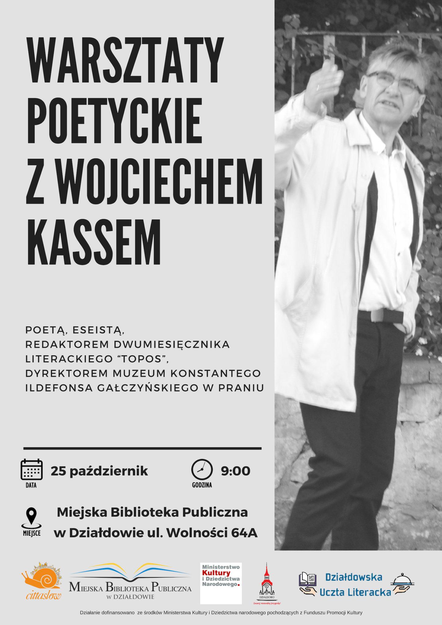 Warsztaty poetyckie z Wojciechem Kassem