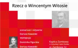 """Spektakl -""""Sprawa Polski jest najważniejsza. Rzecz o Wincentym Witosie"""". Uwaga zmiana miejsca wydarzenia!"""