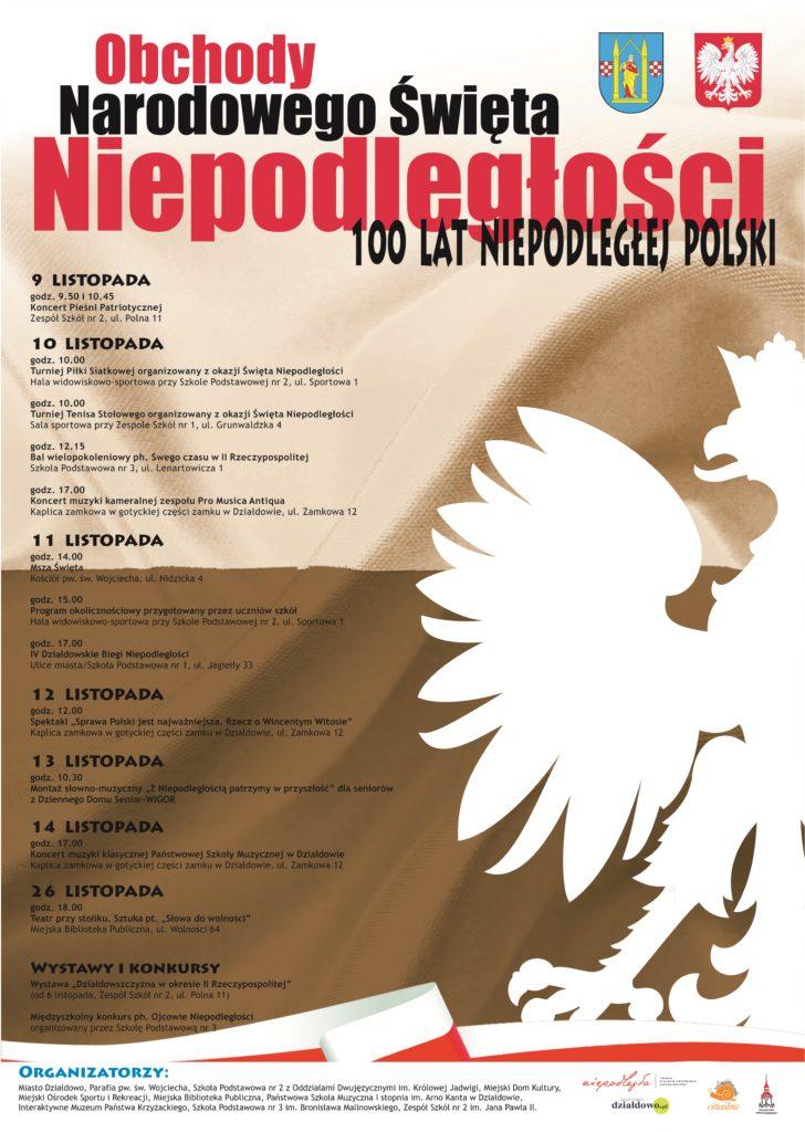 Obchody Narodowego Święta Niepodległości. 100 lat Niepodległej Polski