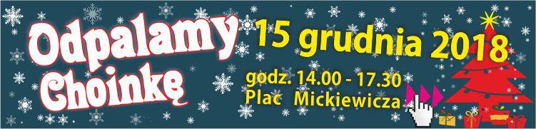 """""""Odpalamy choinkę"""" – zapraszamy na świąteczną imprezę na Pl. Mickiewicza"""