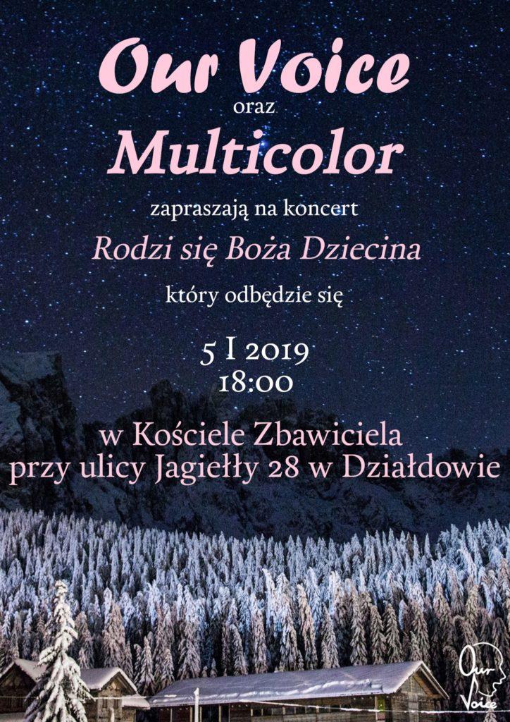 Chór Our Voice oraz Multicolor zapraszają na koncert kolęd