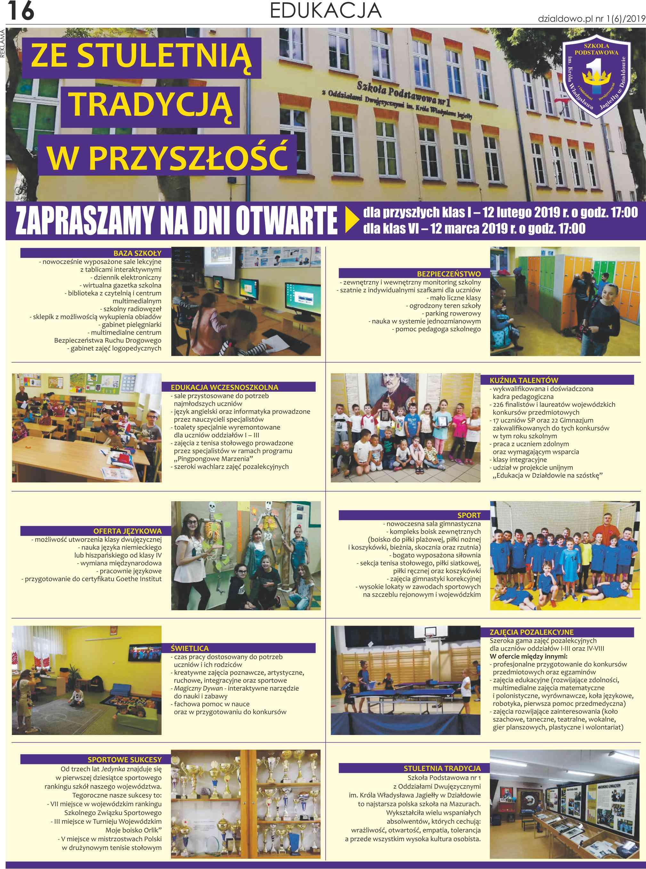 Dodatek edukacyjny – przewodnik dla ucznia i rodzica po szkołach miejskich i powiatowych