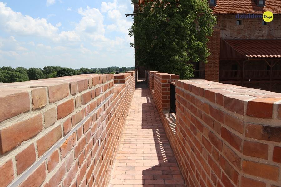 Działdowo widziane z zamkowych murów