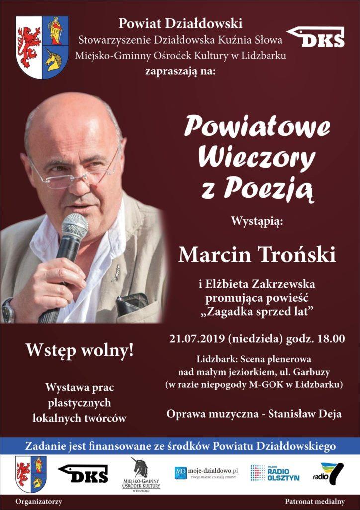 Marcin Troński i Elżbieta Zakrzewska. Powiatowe Wieczory z Poezją