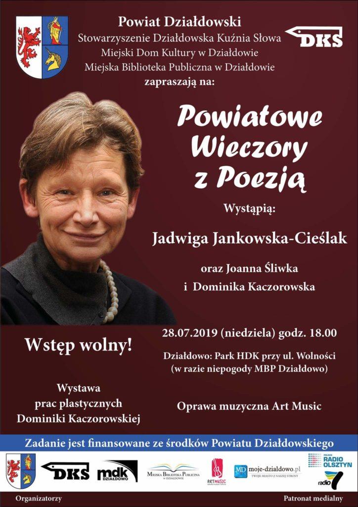 Powiatowe Wieczory z Poezją. Jadwiga Jankowska-Cieślak oraz Joanna Śliwka i Dominika Kaczorowska. Zapraszamy