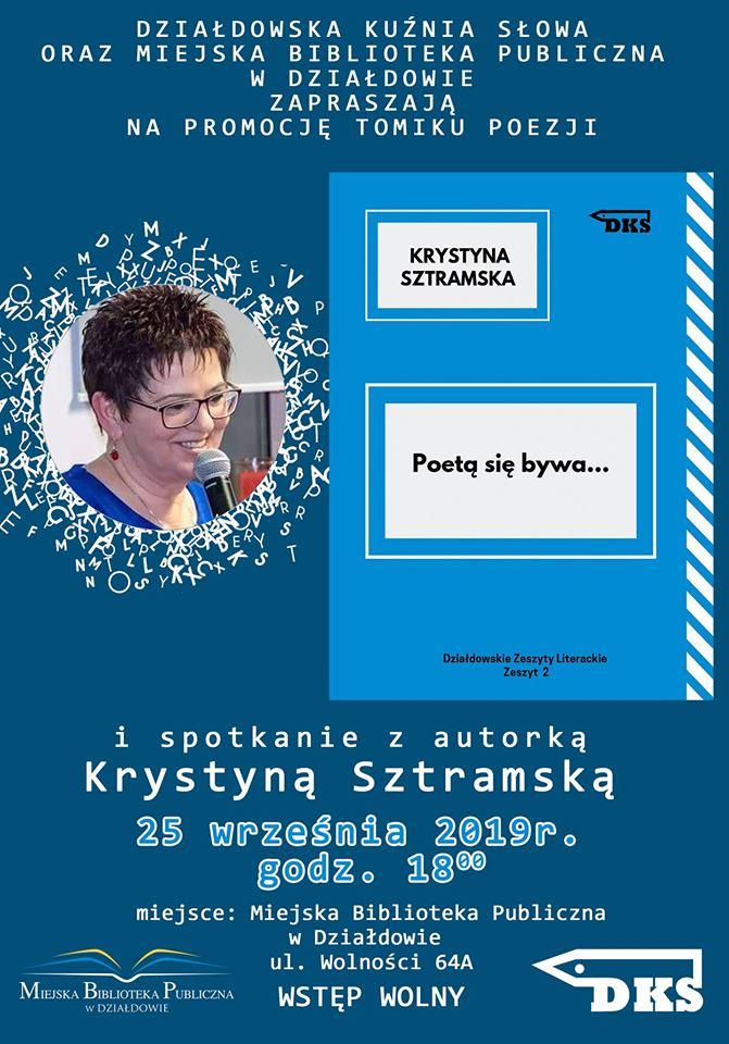 Promocja tomiku poezji Krystyny Sztramskiej