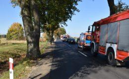 Trzy pojazdy zderzyły się na drodze Działdowo-Burkat