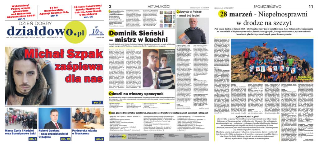 Zapraszamy do lektury Dzień Dobry. Działdowo.pl