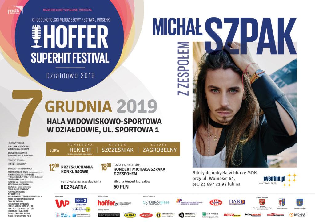 Zapraszamy na XII OMFP Hoffer Superhit Festival Działdowo 2019