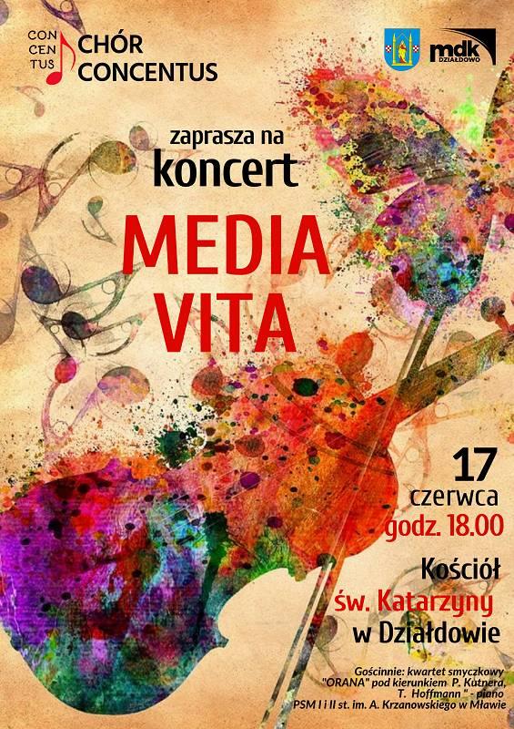 "Koncert chóru Concentus ""Media Vita"""