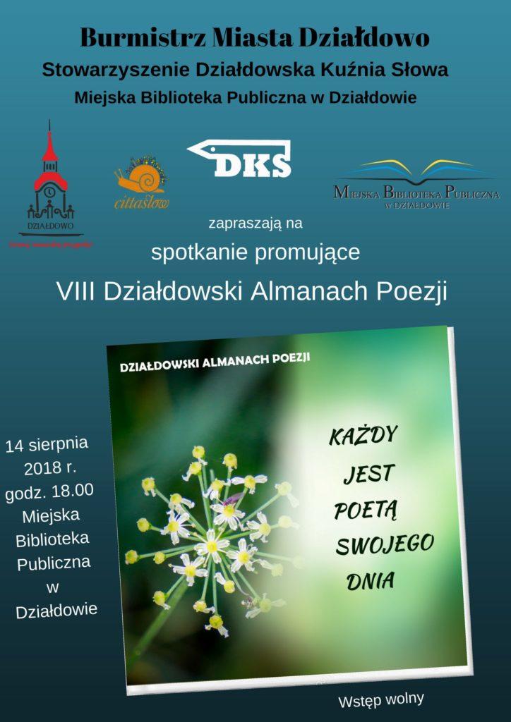 Zapraszamy na promocję Działdowskiego Almanachu Poezji