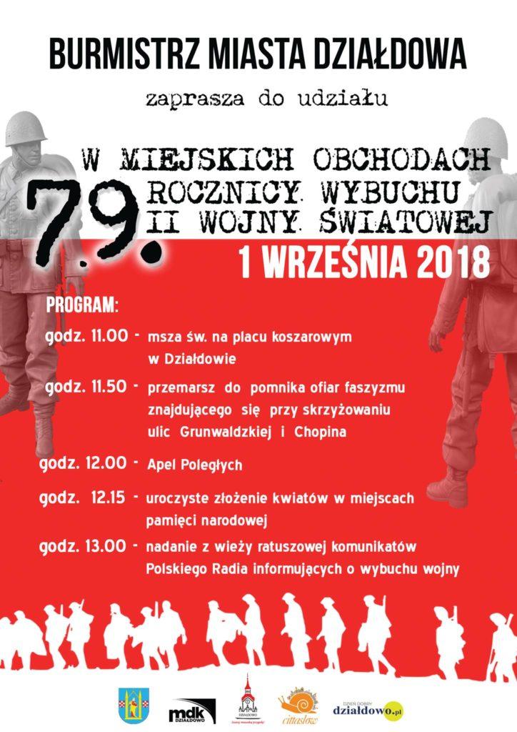79. rocznica wybuchu II wojny światowej w Działdowie