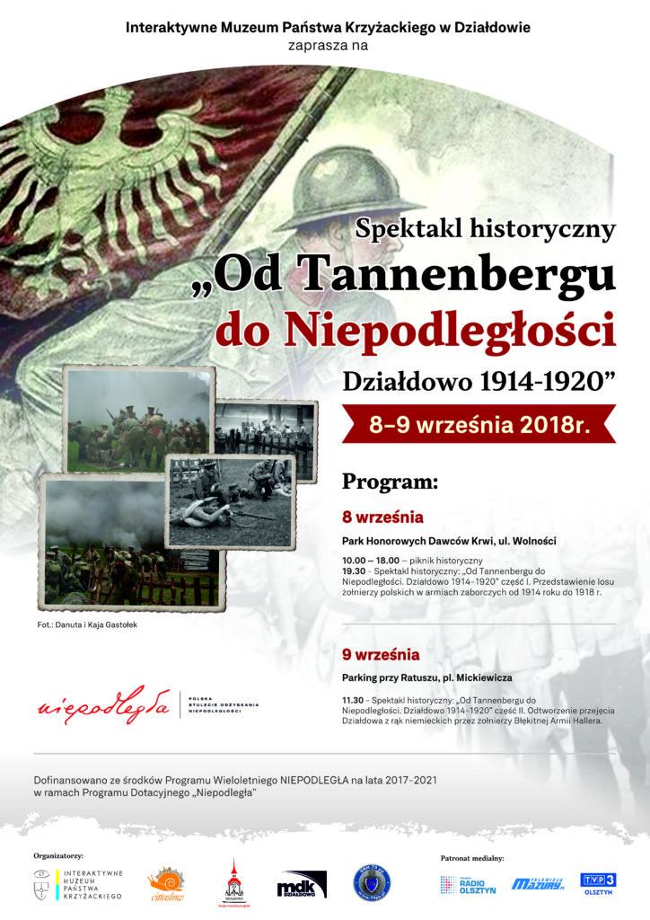 """Zapraszamy na spektakl historyczny """"Od Tannenbergu do Niepodległości. Działdowo 1914-1920"""""""