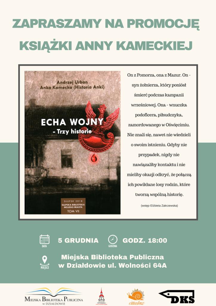 Zapraszamy na promocję książki Anny Kameckiej i Andrzeja Urbana