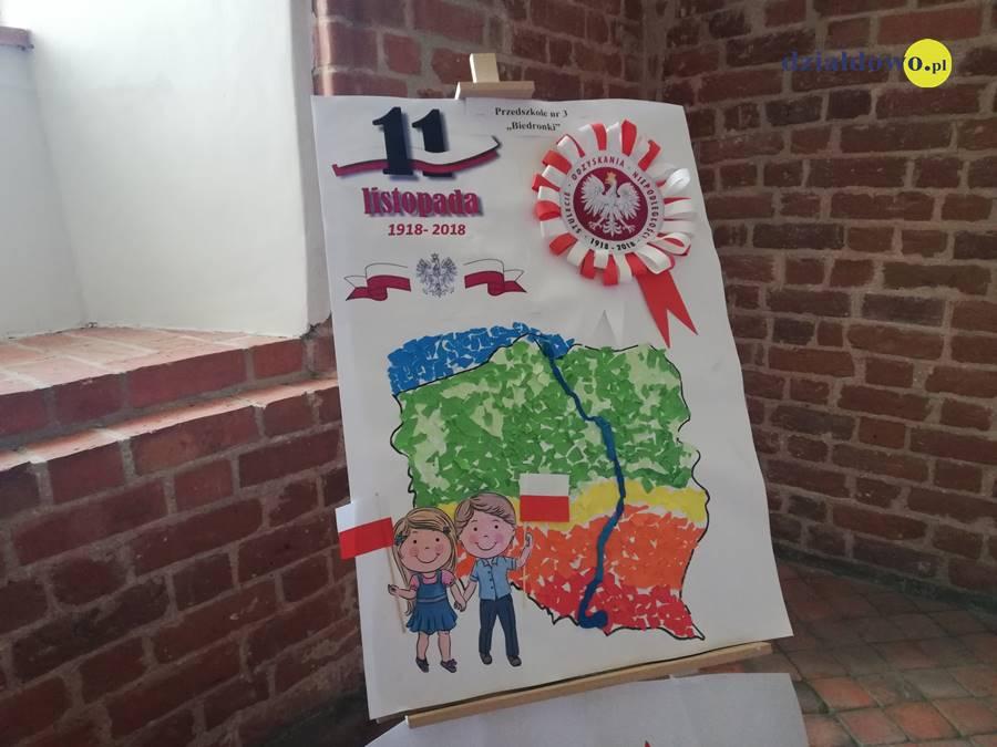 """Wystawa przedszkolaków """"100 lat odzyskania Niepodległości przez Polskę"""""""