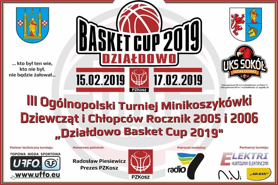 Zapraszamy na III Ogólnopolski Turniej Minikoszykówki Działdowo Basket Cup 2019