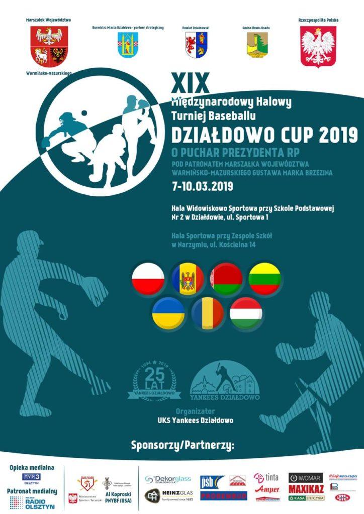 """XIX Międzynarodowy Halowy Turniej Baseballu """"Działdowo Cup 2019"""" w silnej obsadzie startuje już 8 marca"""