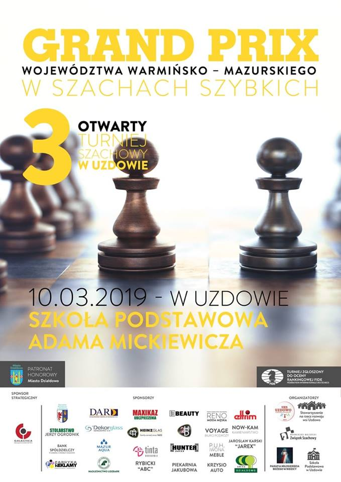 III Otwarty Turniej Szachowy w Uzdowie Grand-Prix województwa Warmińsko-Mazurskiego