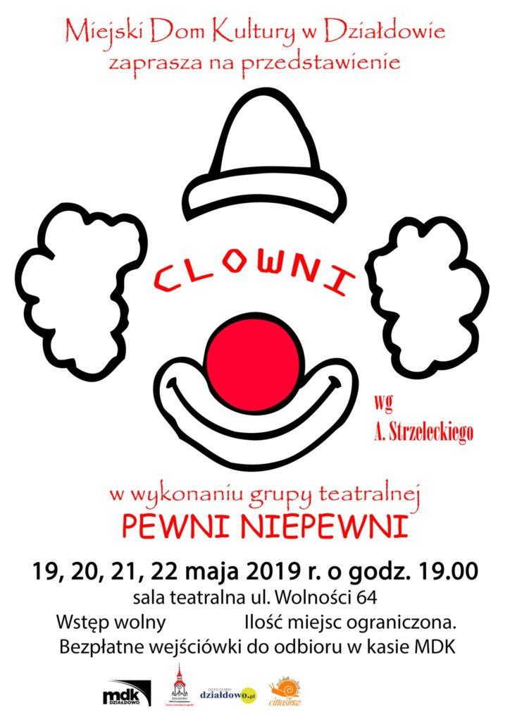 CLOWNI – 17 premiera teatru PEWNI NIEPEWNI