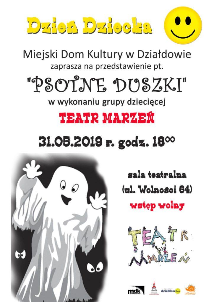 """Przedstawienie """"Psotne Duszki"""" w MDK"""
