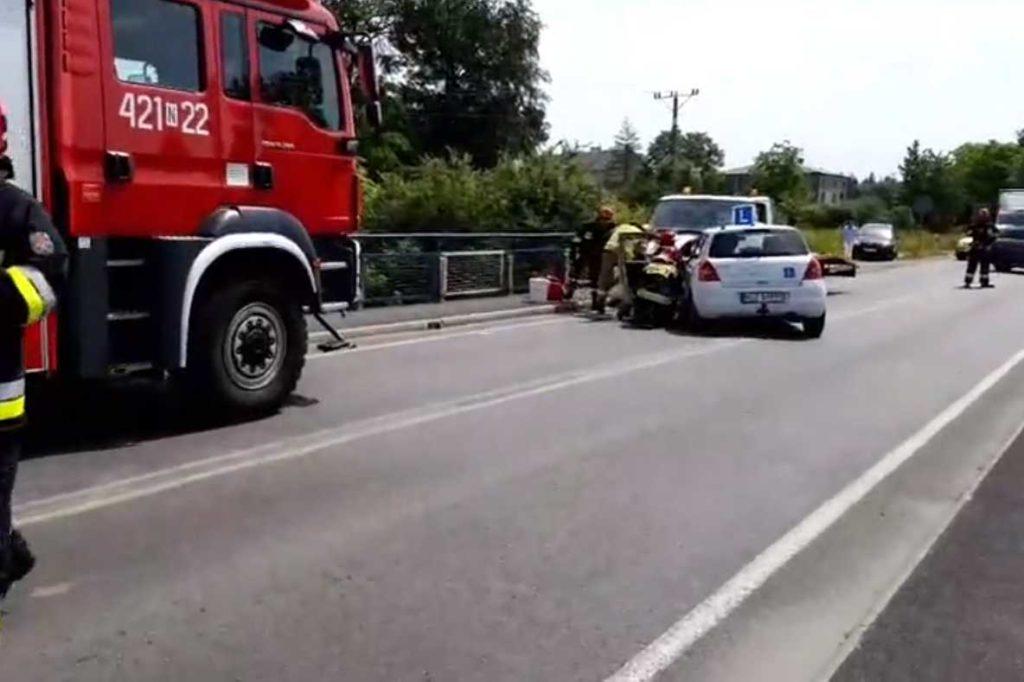 Wypadek na drodze Działdowo-Kisiny