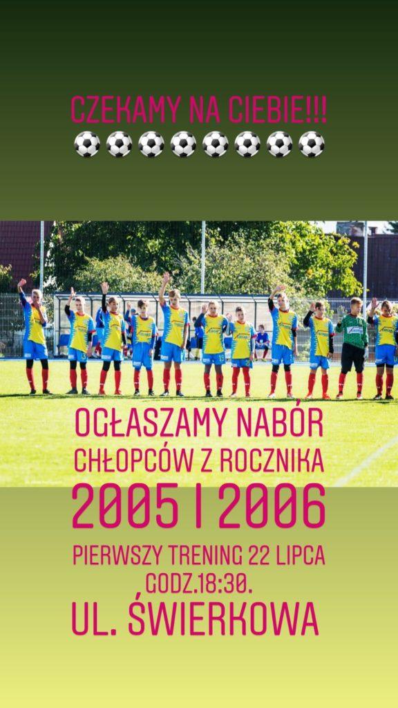 Nabór uzupełniający piłkarzy do Wkry Działdowo
