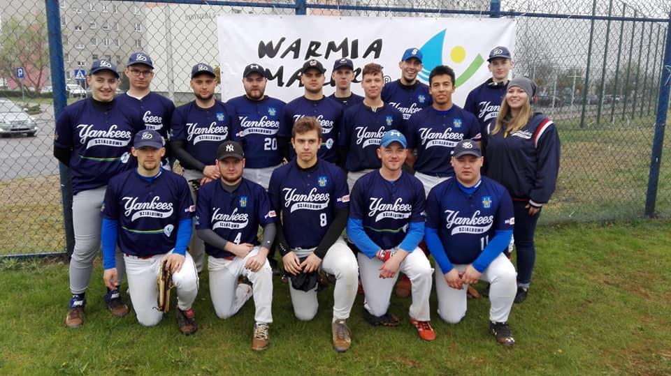 """Yankeesi Działdowo już w """"ósemce"""" najlepszych ekip Bałtyckiej Ligi Baseballu"""