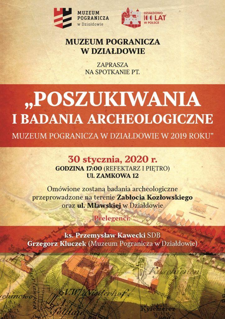 Poszukiwania i badania archeologiczne Muzeum Pogranicza w Działdowie w 2019 roku