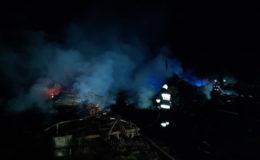 Nocny pożar w Jankowicach