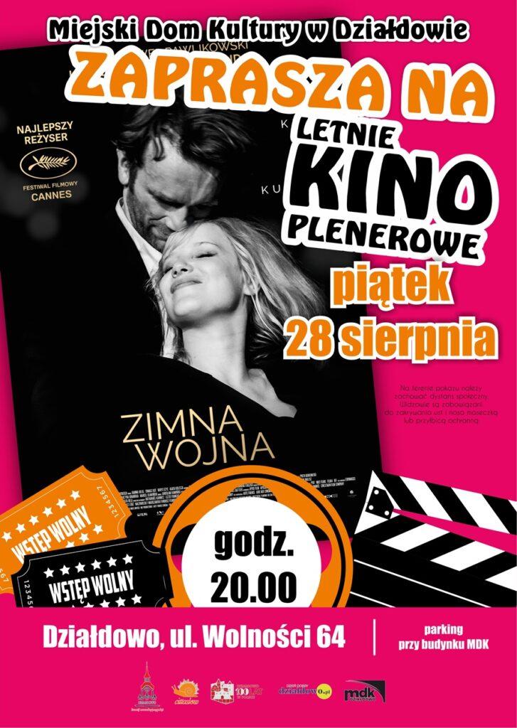 """Letnie Kino Plenerowe  - """"Zimna wojna"""". Zapraszamy"""