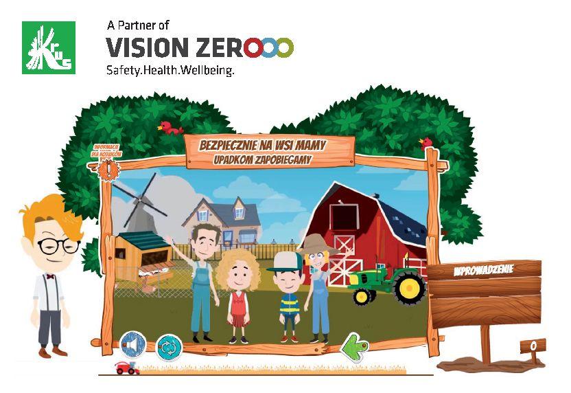 Kurs e-learningowy dla dzieci Bezpiecznie na wsi mamy upadkom zapobiegamy