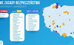 Powiat działdowski w żółtej strefie